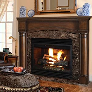 "Amazon.com - 56"" Princeton Fireplace Mantel Finish: French Country"