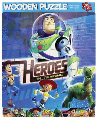 Toy Story 3 Heroes in Training 25 Piece Wooden Puzzle - 1