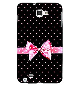 PrintDhaba Heart Pattern D-1228 Back Case Cover for SAMSUNG GALAXY NOTE 1 (Multi-Coloured)