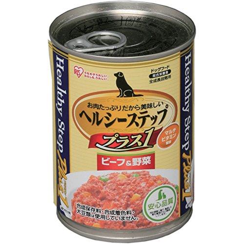 アイリスオーヤマ ヘルシーステッププラスワン ビーフ&野菜 HLC-BY【24缶セット】