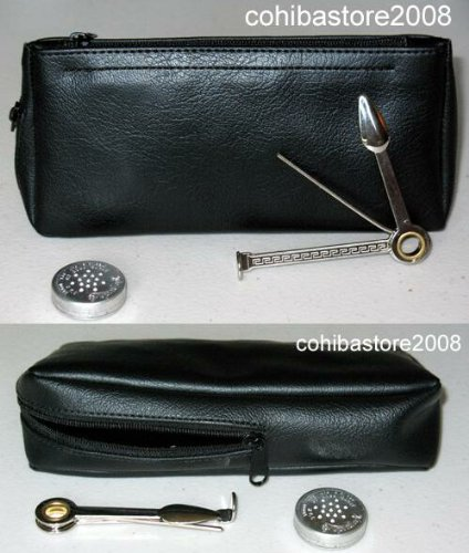 Castelford Black Tobacco Pouch w Pipe Holder