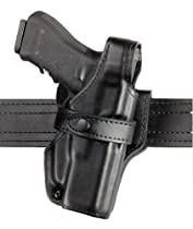 Safariland 070 Level III Retention Duty Holster, Mid-Ride, Black, Plain, Glock 17, 22 (Right Hand)