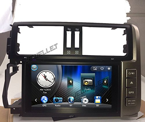 Car DVD GPS Navigation for Toyota Prado 2010-2013 with Radio, DVD, iPod and GPS map (2013 Toyota Prado Accessories compare prices)
