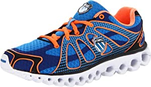 K-Swiss Women's Tubes Run 130 Running Shoe,Brilliant Blue/Orange,7.5 M US