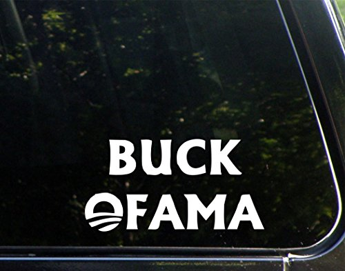 "Buck Ofama (7"" X 4"") Die Cut Decal Bumper Sticker For Windows, Cars, Trucks, Laptops, Etc."