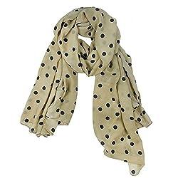 eFuture(TM) Beige Fashion Charming Beautiful Warm Black Polka Dot Scarf Wrap Women Lady Girl Shawl +eFuture's nice Keyring