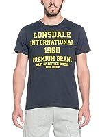 Lonsdale Camiseta Manga Corta Greatstone (Azul Oscuro)