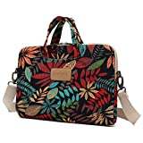 Dachee Leaves Laptop Shoulder Messenger Bag Case Sleeve for 14 Inch 15 Inch Laptop Macbook Pro 15 Case Laptop Briefcase 15.6 Inch