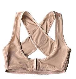 Leegoal Women Back Support Belt Posture Corrector Brace,nude