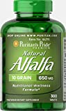 Puritan's Pride Natural Alfalfa 650 mg-300 Tablets