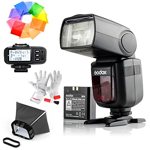 Godox-Ving-V860IIS-24G-GN60-TTL-HSS-18000s-Li-on-Battery-Camera-Flash-Speedlite-with-X1T-S-Wireless-Flash-Trigger-for-Sony-15S-Recycle-Time-650-Full-Power-Pops-Supports-TTLMMultiS1S2