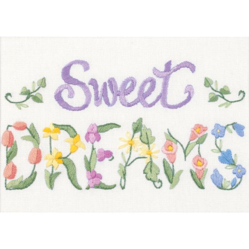 Dimensions Needlecrafts Crewel, Flowery Sweet Dreams