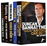 Dragon's Den Autobiographies Collection 5 Books Pack set (Anyone Can Do It by Duncan Bannatyne, The Real Deal by James Cann, Tycoon by Peter Jones, Enter the Dragon by Theo Paphitis, Common Sense Rules by Deborah Meaden) (Dragon's Den Autobiographies Col