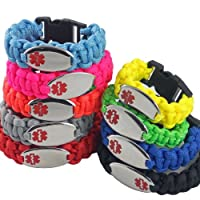 Chic Alert Medical Id Paracord Medical Id Bracelet - Engraving Included!! from Chic Alert Medical ID