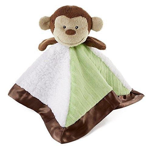 Snoozies Cozy Little Lovies Plush Satin Baby Blanket - Monkey