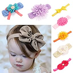 Meaiguo Infant Headbands Turban Bows Knotted Hairbands for Baby Girls Newborn