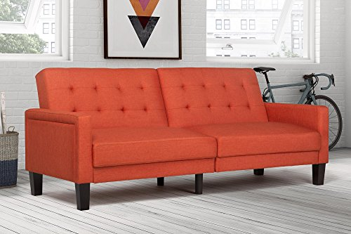 DHP Paris Futon with independently encased coils, Coral