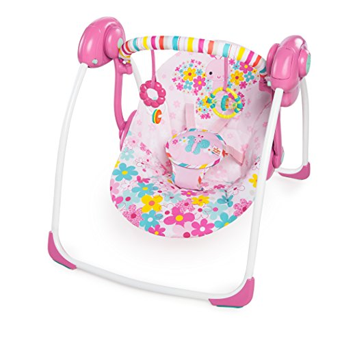 Bright Starts Pretty in Pink Butterfly Cutouts Portable Swing, Pink