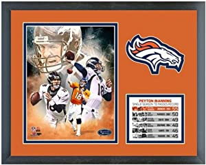 Peyton Manning Denver Broncos NFL TD Record Photo (Size: 12.5 x 15.5) Framed by NFL