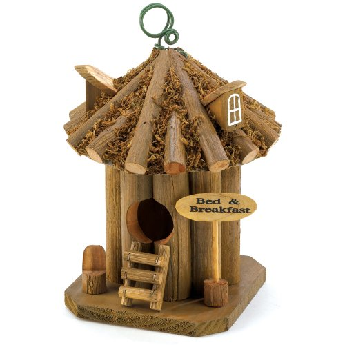Gifts & Decor Bed and Breakfast Hanging Wooden Garden Bird House (Discontinued by Manufacturer)