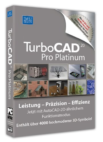 TurboCAD Version 20 Pro Platinum inkl. 3D Symbole