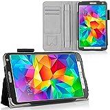 Leaf Galaxy Tab S 8.4 Case, Slim Flip Smart Case Cover With Inbuilt Stand For Samsung Galaxy Tab S 8.4 - Black