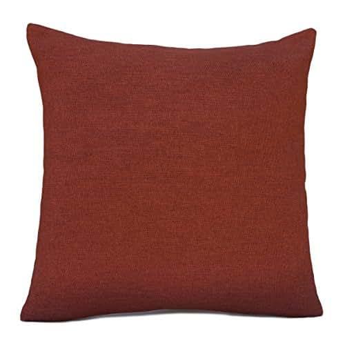 Dark Orange Decorative Pillows : Amazon.com: Dark Orange (rust) Linen Blend Decorative Throw Pillow Cover with Orange Sparkles ...