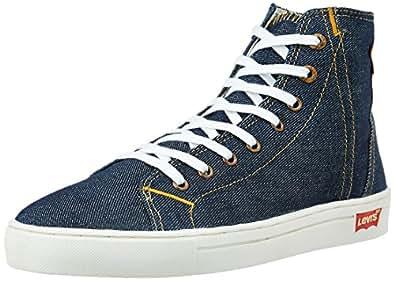Levi's Men's Dark Blue Denim Sneakers - 10 UK/India (44 EU)