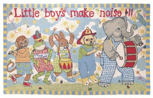 Kelly Rightsell Little Boys Make Noise Rug