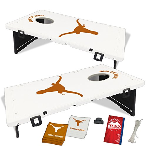 Texas Longhorns Baggo Bean Bag Toss Portable Cornhole Tailgate Game with Lifetime Warranty (Texas Corn Hole Bags compare prices)