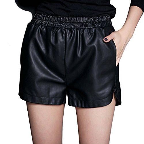 yming-femmes-pu-faux-cuir-taille-elastique-lache-shorts