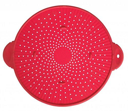 Silicone Splatter Guard Skillet Pot Pan Cover Strainer Trivet Round 11