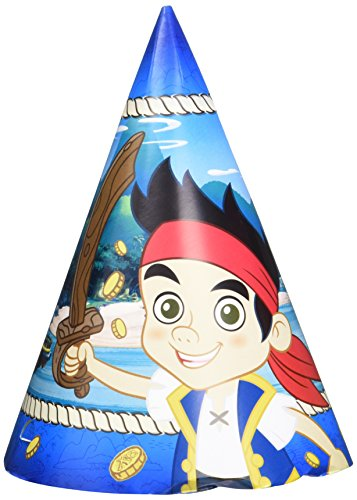 DesignWare Amscan AMI 250290 Jake and The Neverland Pirates Cone Hat for Party