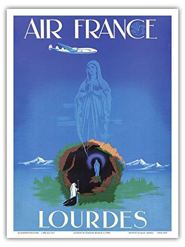lourdes-virgen-maria-nuestra-senora-de-lourdes-air-france-aerea-de-viaje-por-edmond-maurus-c1950s-ma
