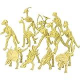 "Assorted Dinosaur Fossil Skeleton 5-6"" Figures, 12-Piece"