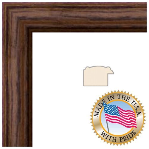 ArtToFrames 14x18 inch Walnut Stain on Solid Red Oak Wood Picture Frame, WOM0066-59504-YWAL-14x18 (Fotos Cuadros compare prices)