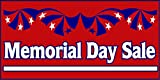 Memorial Day Sale DECAL STICKER Retail Store Sign
