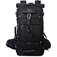 Kaka Hiking Travelling Rucksack Camping Tactical Climbing Mountain Daypack (Black)