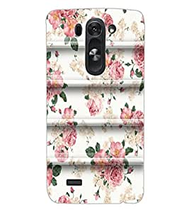 ColourCraft Beautiful Floral Pattern Design Back Case Cover for LG G3 BEAT