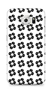 Amez designer printed 3d premium high quality back case cover for Samsung Galaxy S6 (Black n White Pattern8)