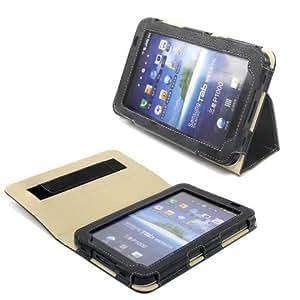 Snugg™ - Étui Pour Samsung Galaxy Tab 7.0 - Housse Avec Support Pied Et Une Garantie à Vie (En Cuir Noir) Pour Samsung Galaxy Tab 7.0