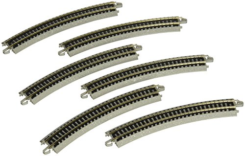 "Bachmann 11.25"" Radius Curved Track (6/Card) - N Scale"