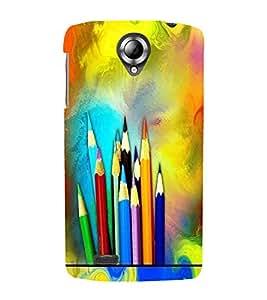 PrintVisa Modern Art Pencil Color 3D Hard Polycarbonate Designer Back Case Cover for Lenovo S820