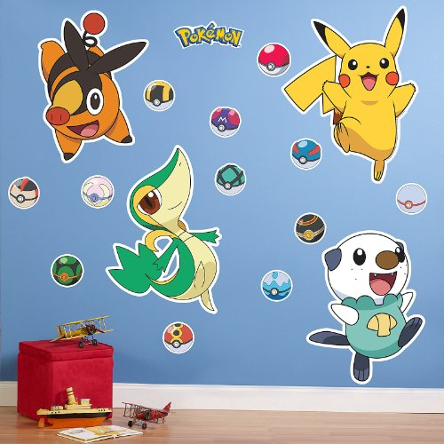 great price pokemon black and white giant wall decals pokemon wall stickers. Black Bedroom Furniture Sets. Home Design Ideas