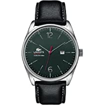 Lacoste Austin Black Dial Green Leather Strap Mens Watch 2010694