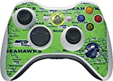 NFL Seattle Seahawks Xbox 360 Wireless Controller Skin - Seattle Seahawks - Blast Green Vinyl Decal Skin For Your Xbox 360 Wireless Controller