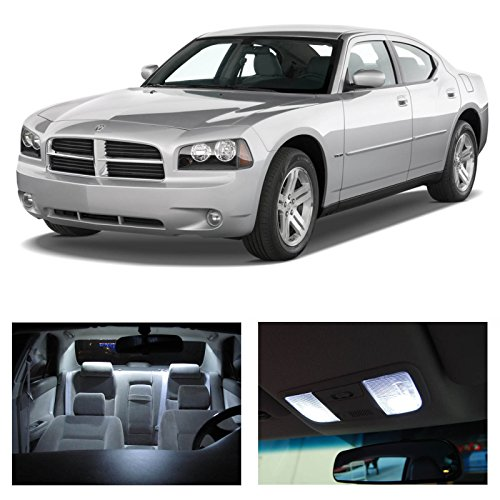 Dodge Charger 2006-2010 Xenon White Premium Led Interior Lights Package Kit (5 Pieces)
