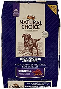 The Nutro Company Natural Choice Venison Meal and Chickpeas High Protein Grain-Free Recipe for Pets, 24-Pound