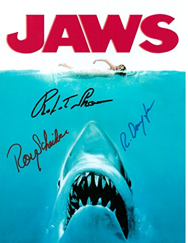 JAWS, Classic Movie, 8 X 10 Movie Poster Autograph on Glossy Photo Paper (Classic Movie Pictures compare prices)