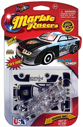 Skullduggery Krazy Kars Marble Racers, Light Up Police Chief - 1